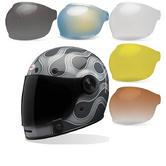 Bell Bullitt SE Motorcycle Helmet & Bubble Visor Kit Brown Tab
