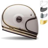 Bell Bullitt Carbon RSD Mojo Motorcycle Helmet & Flat Shield Visor Kit Black Tab