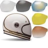 Bell Bullitt Carbon RSD Mojo Motorcycle Helmet & Bubble Visor Kit Brown Tab
