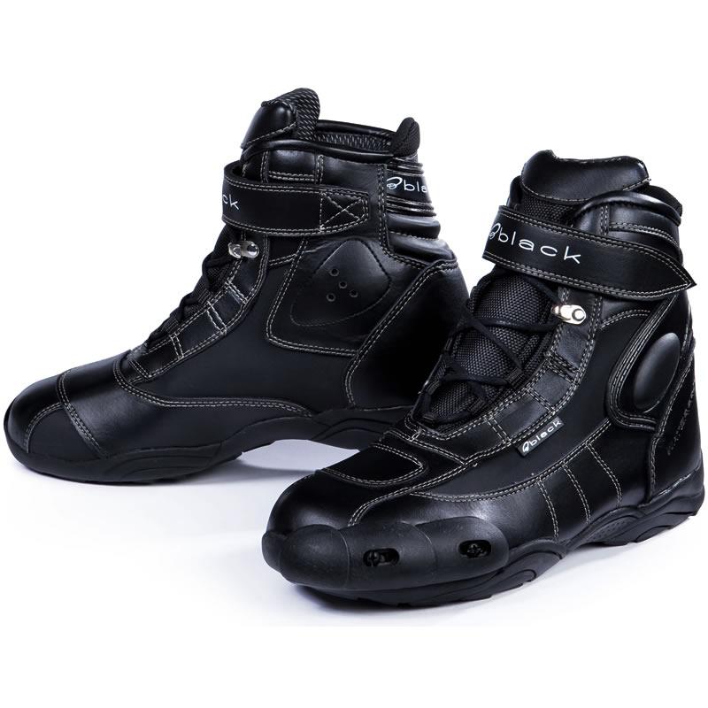 Black Fc Tech Short Motorcycle Paddock Ankle Motorbike