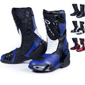 Black Zero Waterproof Motorcycle Boots