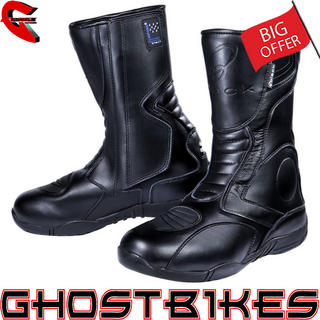 View Item Black Stealth Evo Motorcycle Boots