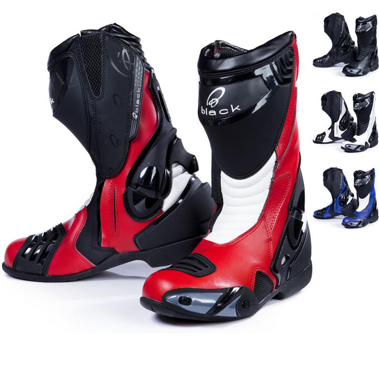 Black Venom Motorcycle Boots