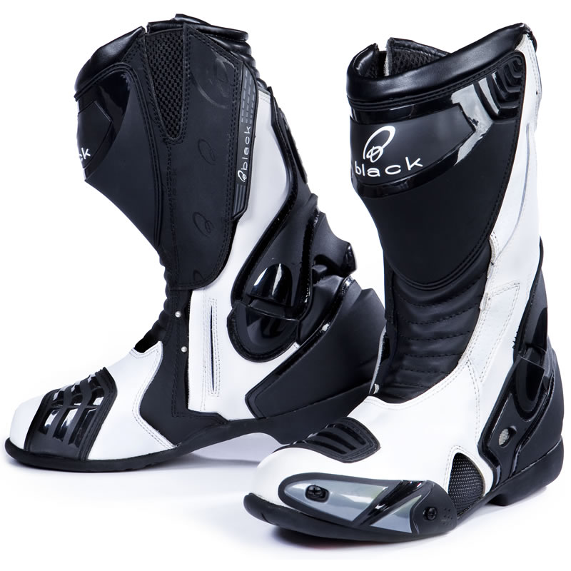 Black Venom Race Track Road Motorcycle Motorbike Boots All Sizes ...