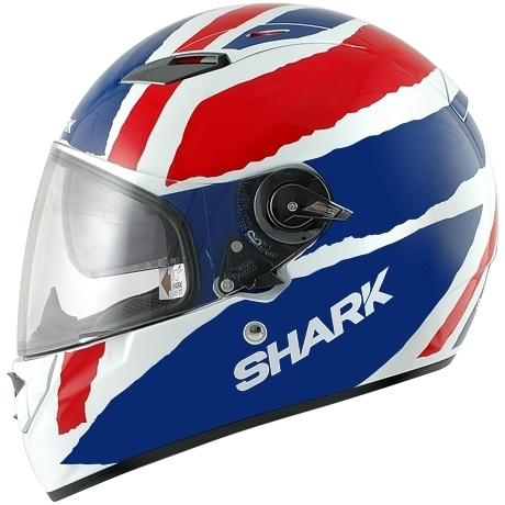 shark vision r union jack great britian motorbike uk british motorcycle helmet ebay. Black Bedroom Furniture Sets. Home Design Ideas