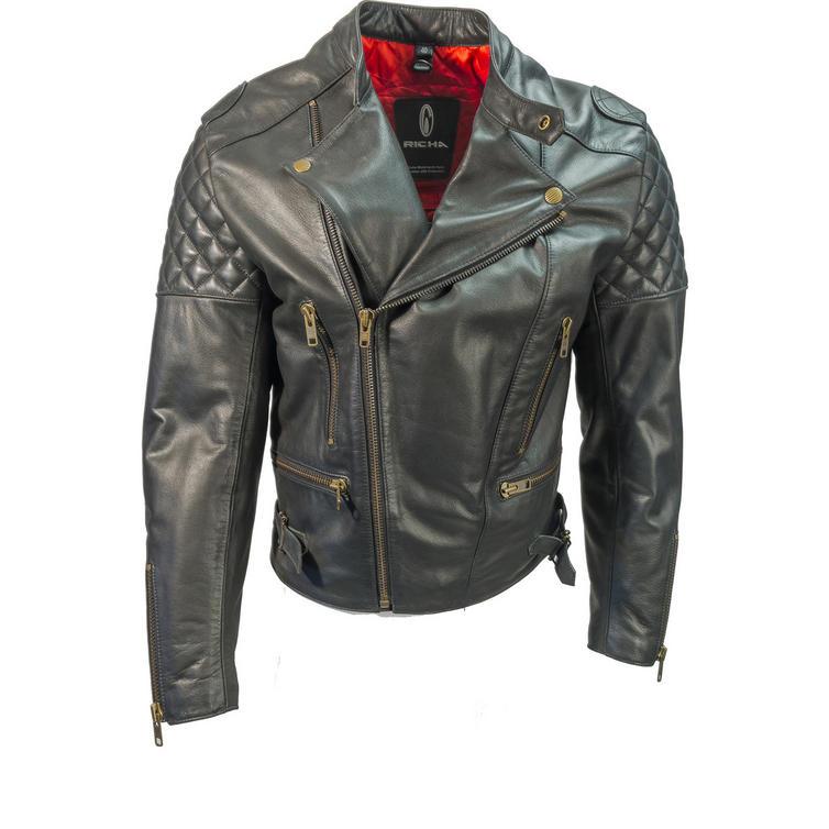 Richa Triple Leather Motorcycle Jacket
