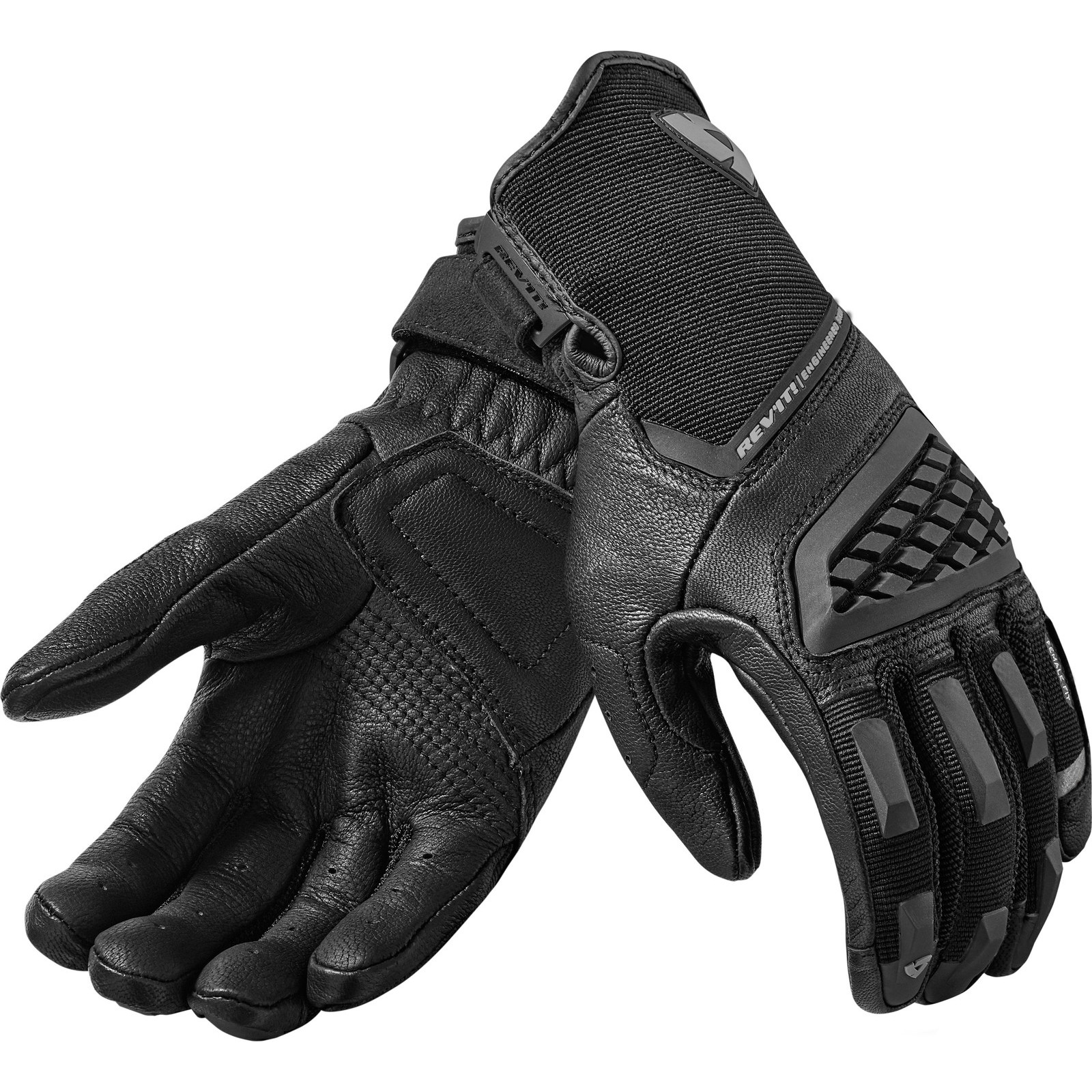 Womens leather biker gloves - Rev It Neutron 2 Ladies Leather Motorcycle Gloves