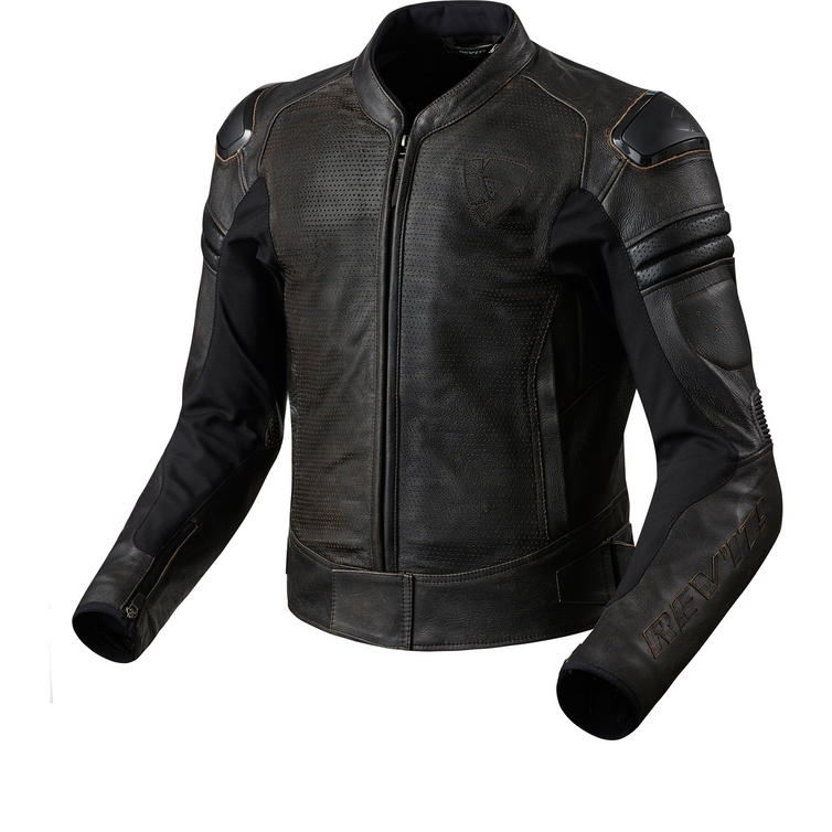 Rev It Akira Air Vintage Leather Motorcycle Jacket