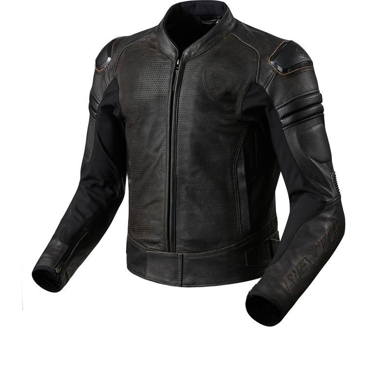 Rev It Akira Air Vintage Leather Motorcycle Jacket