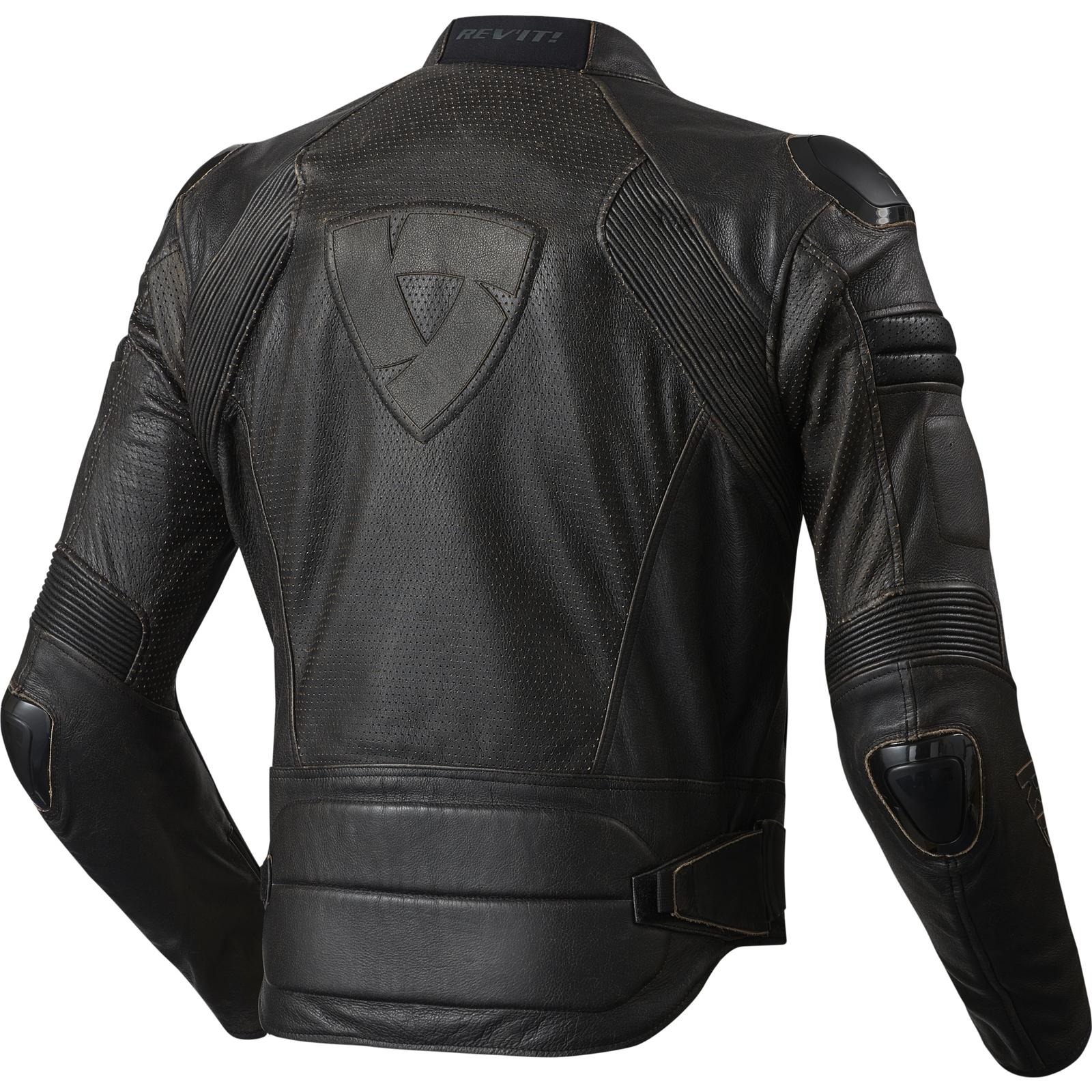 rev it air vintage leather motorcycle jacket mens