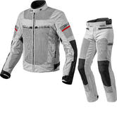 Rev It Tornado 2 Motorcycle Jacket & Trousers Black Silver Kit
