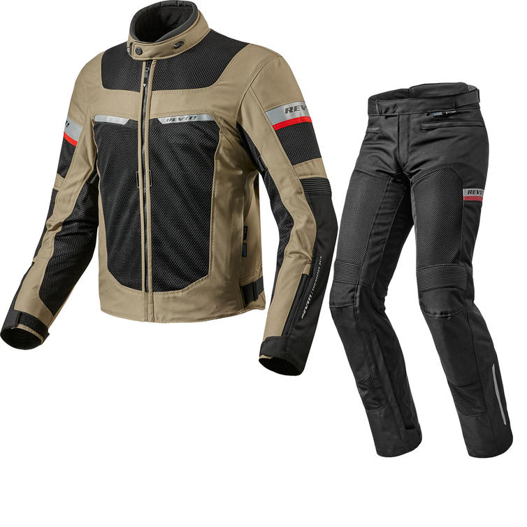 Rev It Tornado 2 Motorcycle Jacket & Trousers Sand Black Kit