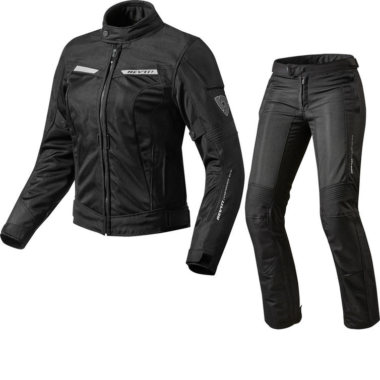 Rev It Airwave 2 Ladies Motorcycle Jacket & Trousers Black Kit
