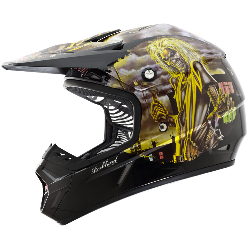 ONEAL ROCKHARD 2 IRON MAIDEN KILLERS LIMITED EDITION MX MOTOCROSS CRASH HELMET Enlarged Preview