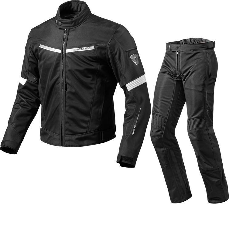 Rev It Airwave 2 Motorcycle Jacket & Trousers Black White Kit