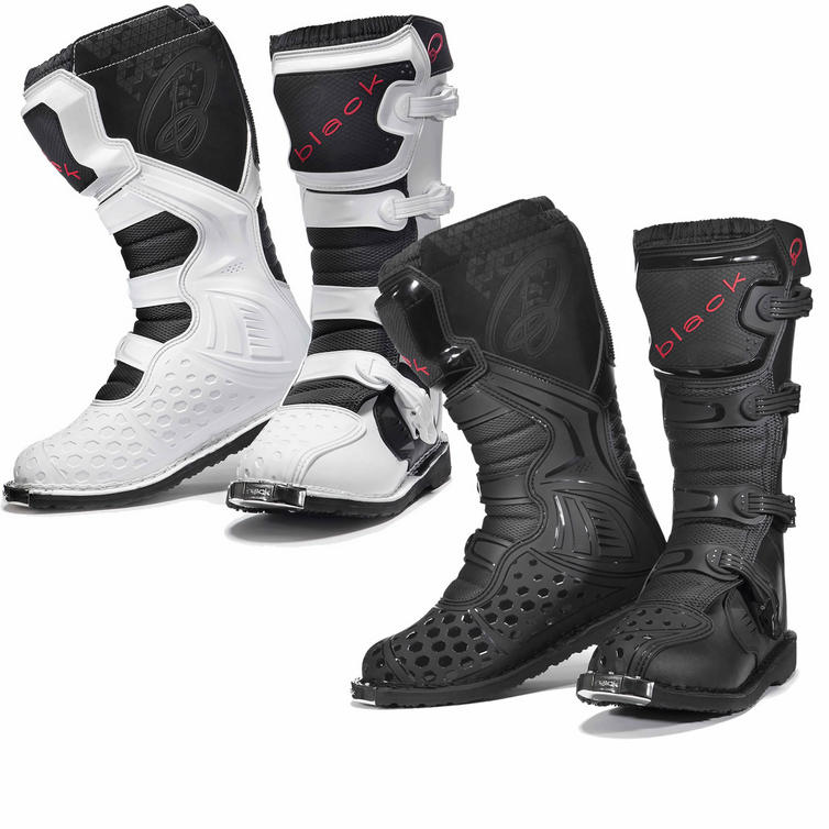 Black MX Enigma Motocross Boots (CE Level 2 Certified)