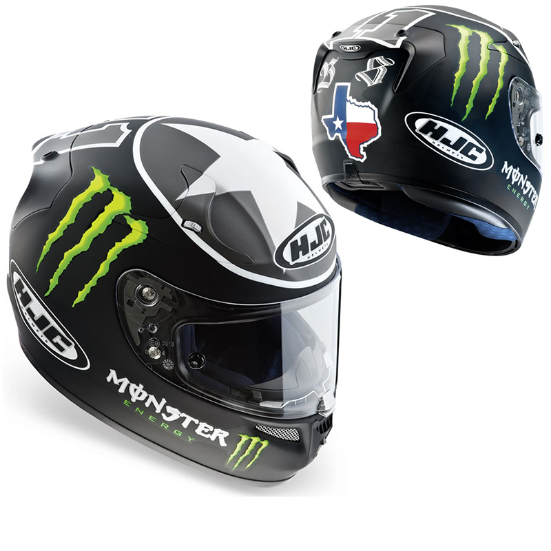 hjc r pha 10 ben spies monster energy motorcycle helmet. Black Bedroom Furniture Sets. Home Design Ideas