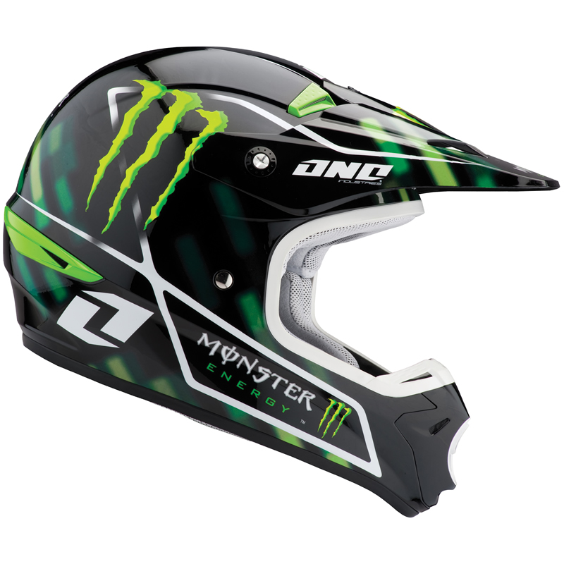 one industries kombat monster energy motocross helmet l. Black Bedroom Furniture Sets. Home Design Ideas