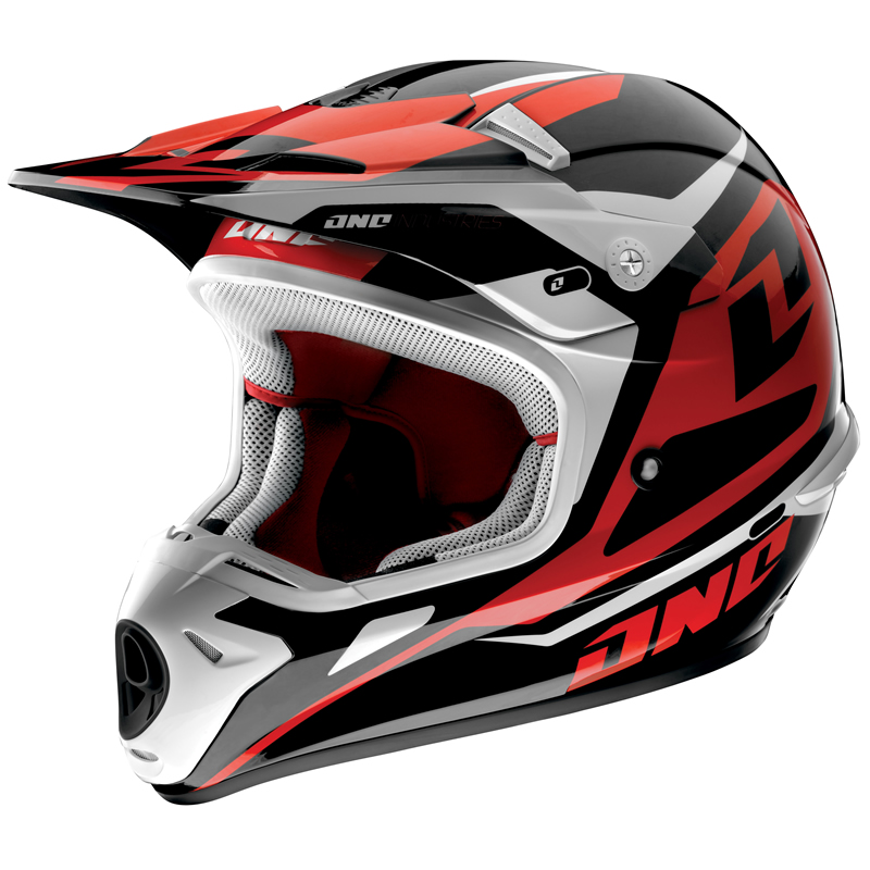 one industries kombat hudson motocross helmet red s ebay. Black Bedroom Furniture Sets. Home Design Ideas