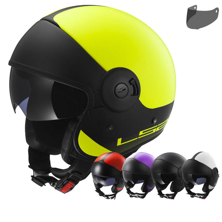 LS2 OF597.42 Cabrio Via Open Face Motorcycle Helmet & Visor