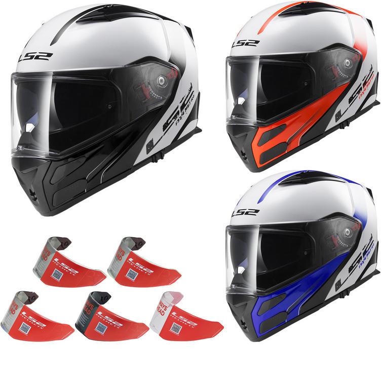 LS2 FF324.21 Metro Rapid Flip Front Motorcycle Helmet & Visor
