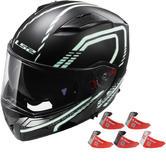 LS2 FF324.21 Metro Firefly Flip Front Motorcycle Helmet & Visor