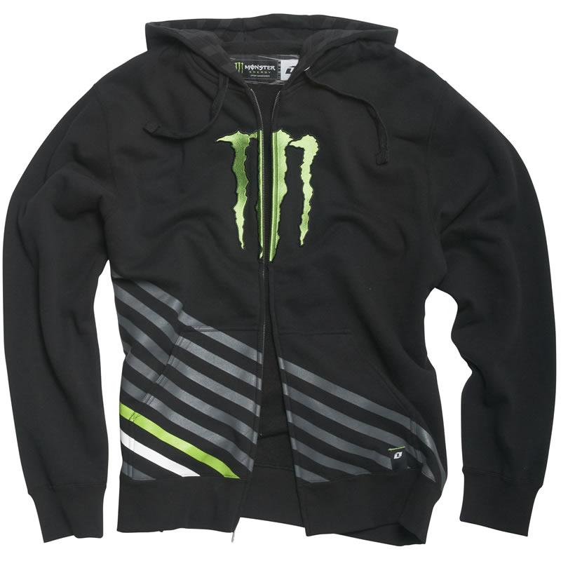 Monster energy zip up hoodie