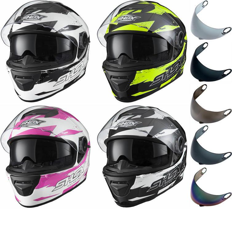 Shox Assault Trigger Motorcycle Helmet & Visor