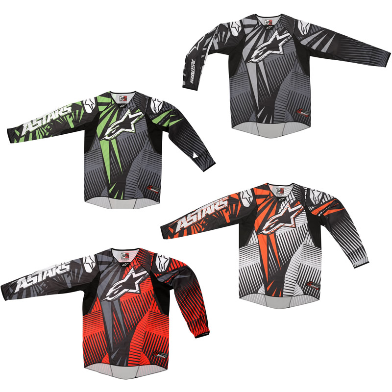 Alpinestars 2012 Techstar Mx Shirt Motocross Off Road Enduro Dirt