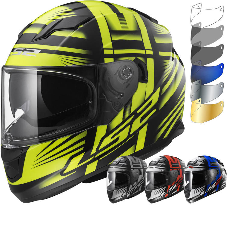 LS2 FF320.24 Stream Bang Motorcycle Helmet & Visor