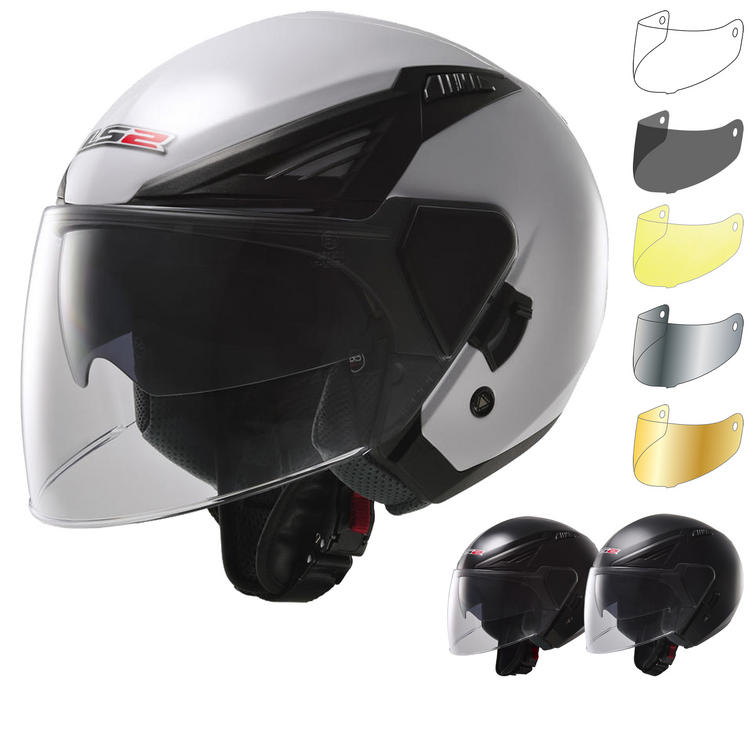 LS2 OF586.10 Bishop Solid Open Face Motorcycle Helmet & Visor