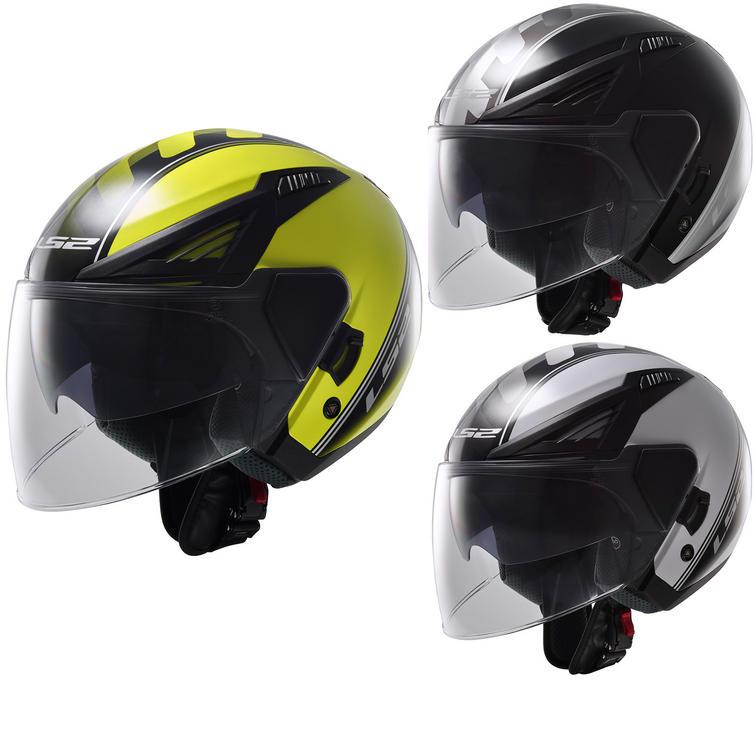 LS2 OF586.11 Bishop Atom Open Face Motorcycle Helmet & Visor