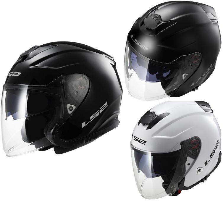 LS2 OF521.10 Infinity Solid Open Face Motorcycle Helmet & Visor