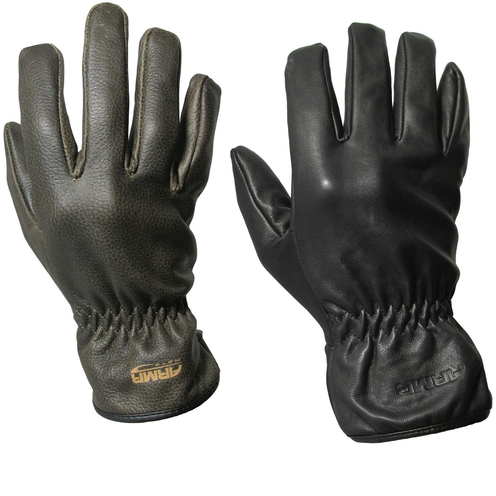 Motorcycle gloves cruiser - Armr Moto C425 Leather Motorcycle Gloves