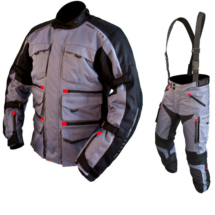 ARMR Moto Tottori Evo Motorcycle Jacket & Trousers Gun Metal Kit