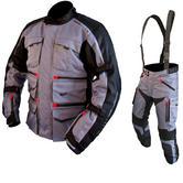 ARMR Moto Tottori Evo Motorcycle Jacket & Trousers Gun Metal Kit