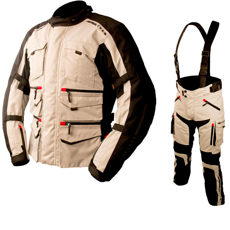 ARMR Moto Tottori Evo Motorcycle Jacket & Trousers Stone Kit