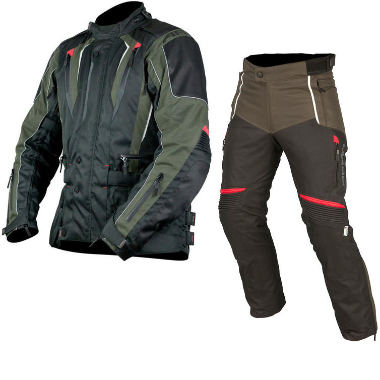ARMR Moto Tottori 2 Jacket & Tottori Trousers Motorcycle Black Kit