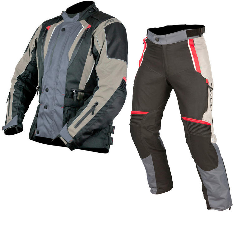 ARMR Moto Tottori 2 Jacket & Tottori Trousers Motorcycle Grey Kit