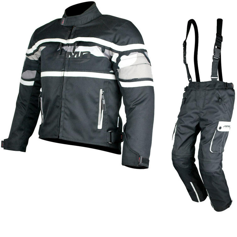 ARMR Moto KJ4 Jacket & KT4 Trousers Kids Motorcycle Black Camo Kit