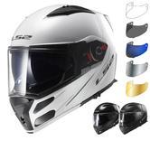 LS2 FF324.1 Metro Solid Flip Front Motorcycle Helmet & Visor