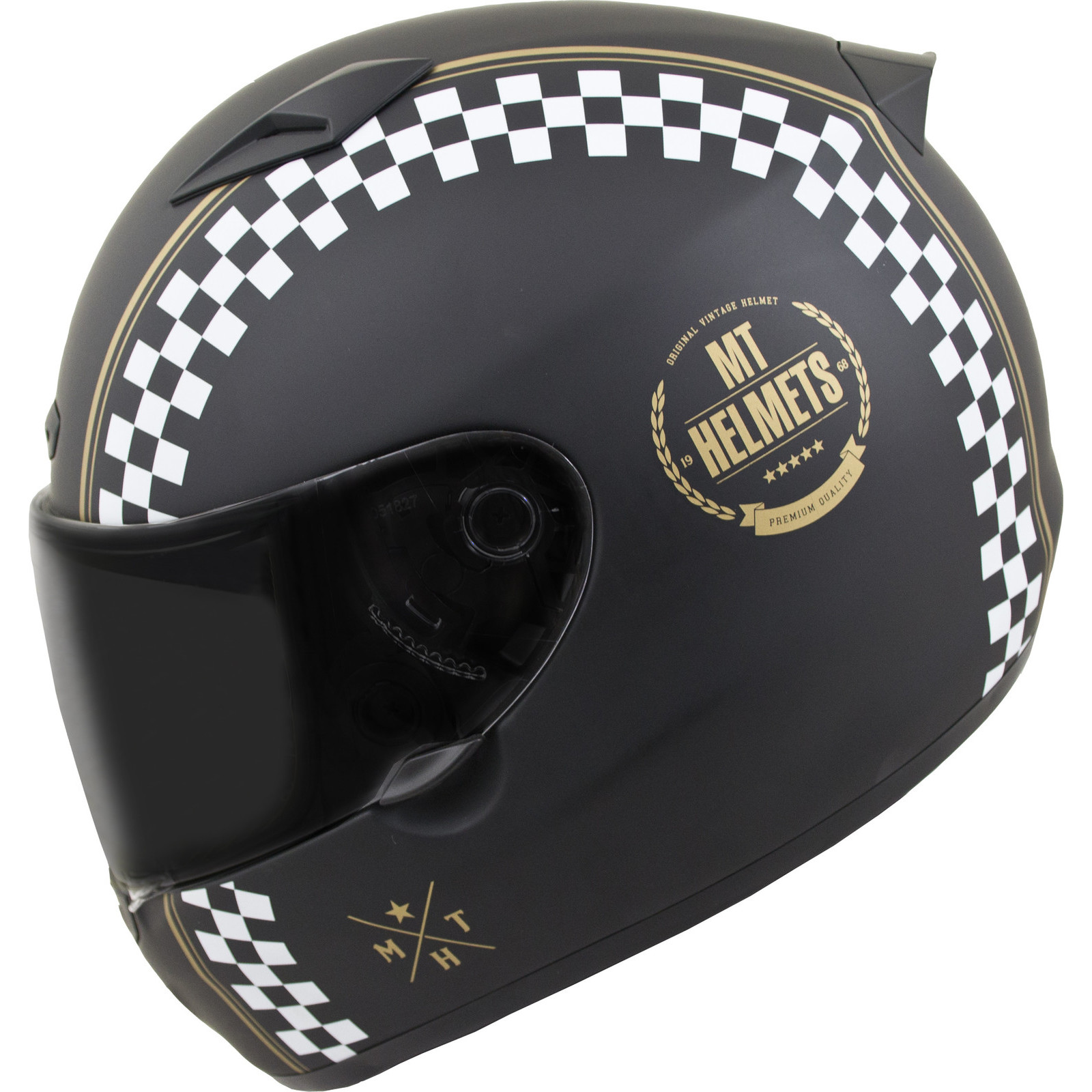 MT Matrix Cafe Racer Motorcycle Helmet Full Face