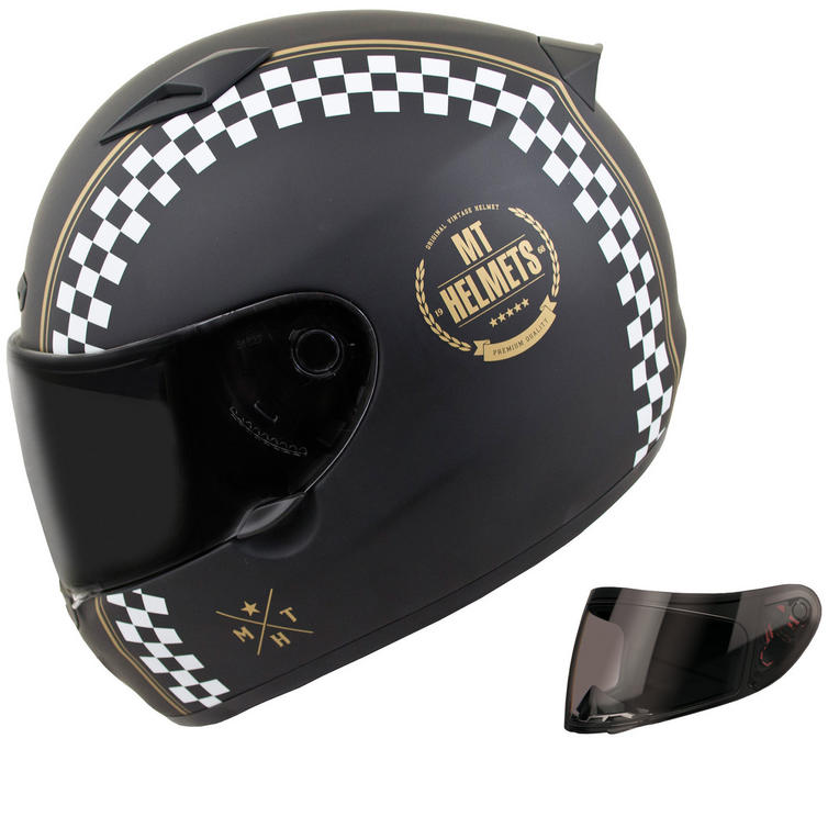 MT Matrix Cafe Racer Motorcycle Helmet & Visor