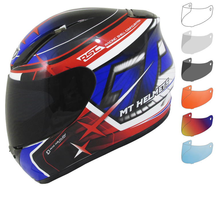 MT Revenge Replica GP Motorcycle Helmet & Visor