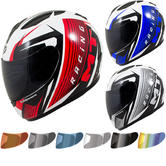 MT Thunder Axe Motorcycle Helmet & Visor