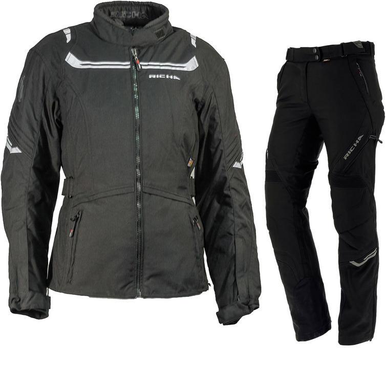 Richa Phoenicia Ladies Motorcycle Jacket & Trousers Black Kit