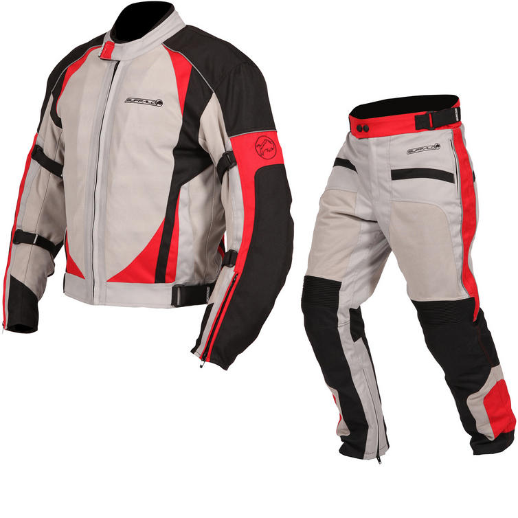 Buffalo Coolflow ST Motorcycle Jacket & Trousers Stone Red Kit