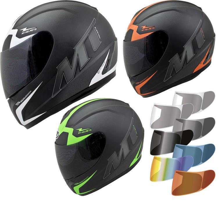 MT Thunder Squad Motorcycle Helmet & Visor