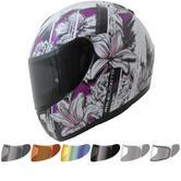 MT Thunder Wild Garden Motorcycle Helmet & Visor