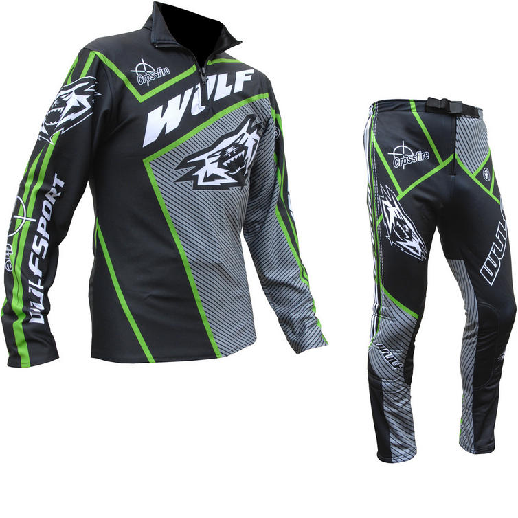 Wulf Arena Adult Black Green Trials Kit